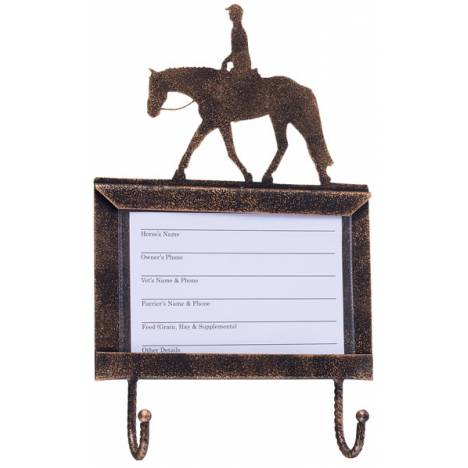 Tough-1 Deluxe Stall Card Holder with Hooks - English