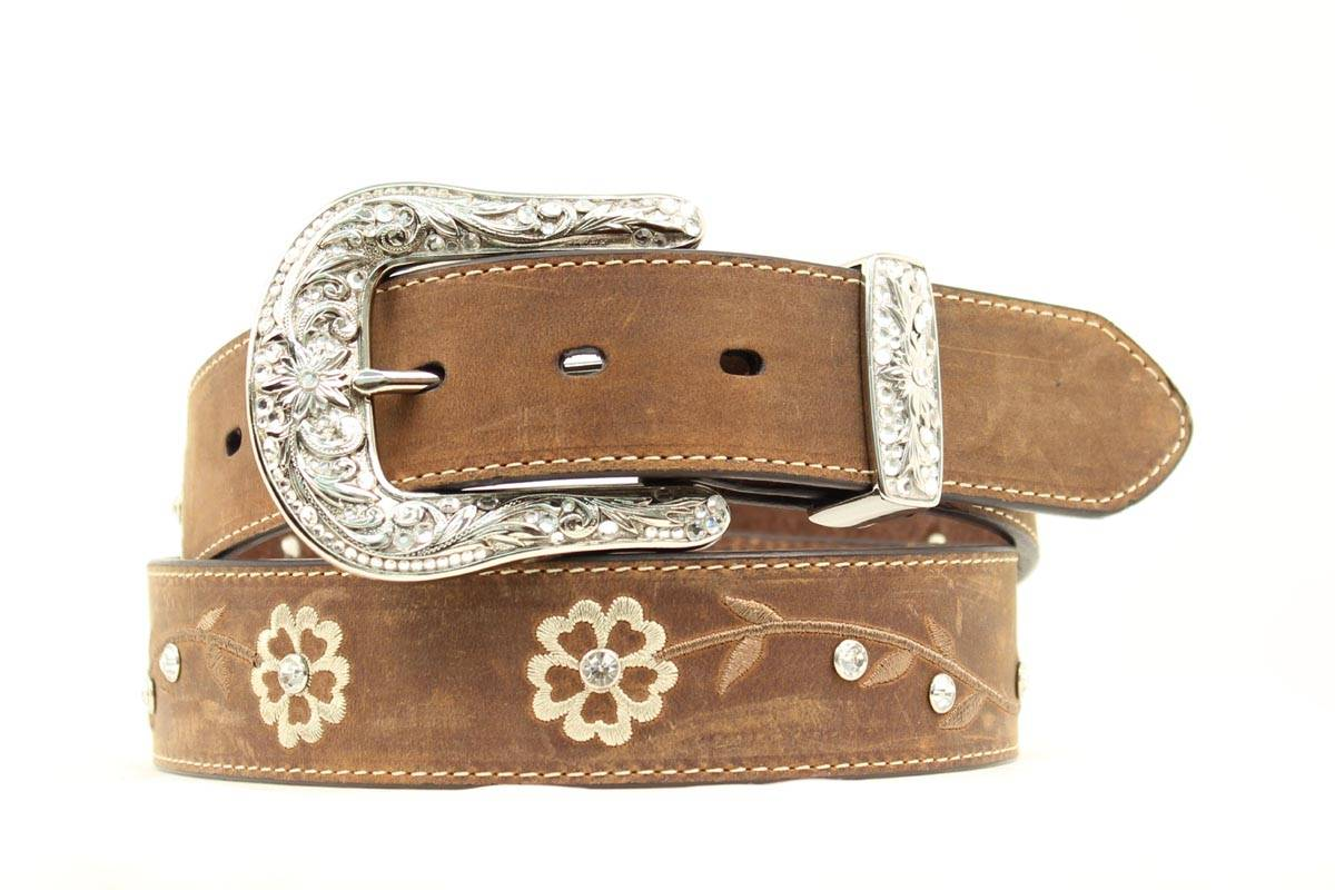 Ariat Scroll Flowers Belt - Ladies