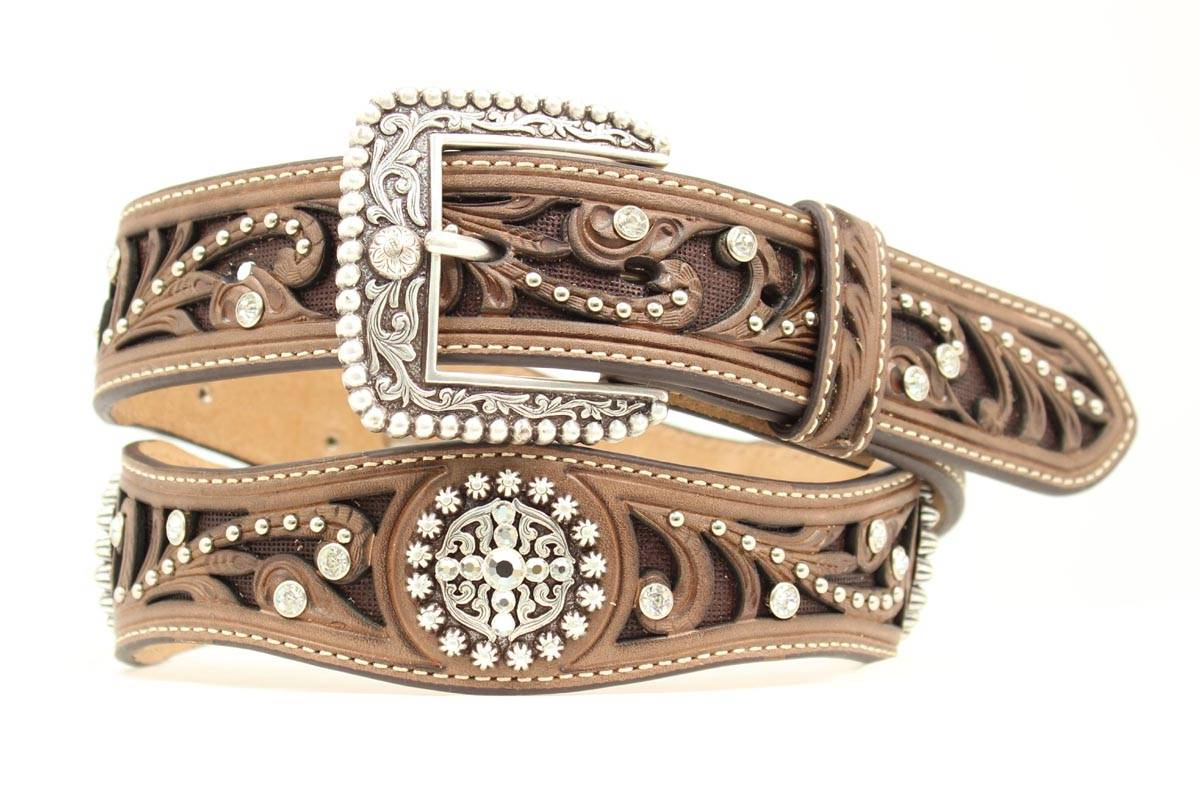 "Ariat 1 1/2"" Scalloped Concho Belt - Ladies"