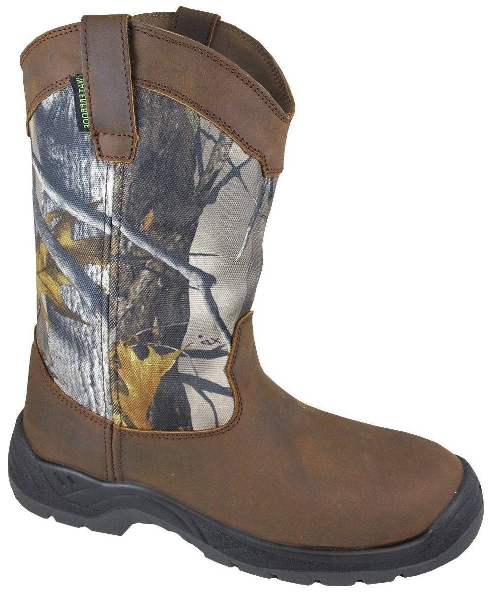 Smoky Mountain Brushfield Steel Toe Waterproof Wellington - Mens
