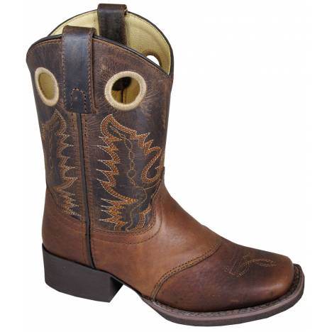 Smoky Mountain Luke Western Boots - Youth, Brown