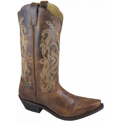 Smoky Boots Madison Snip Toe Boots - Ladies, Distressed Brown
