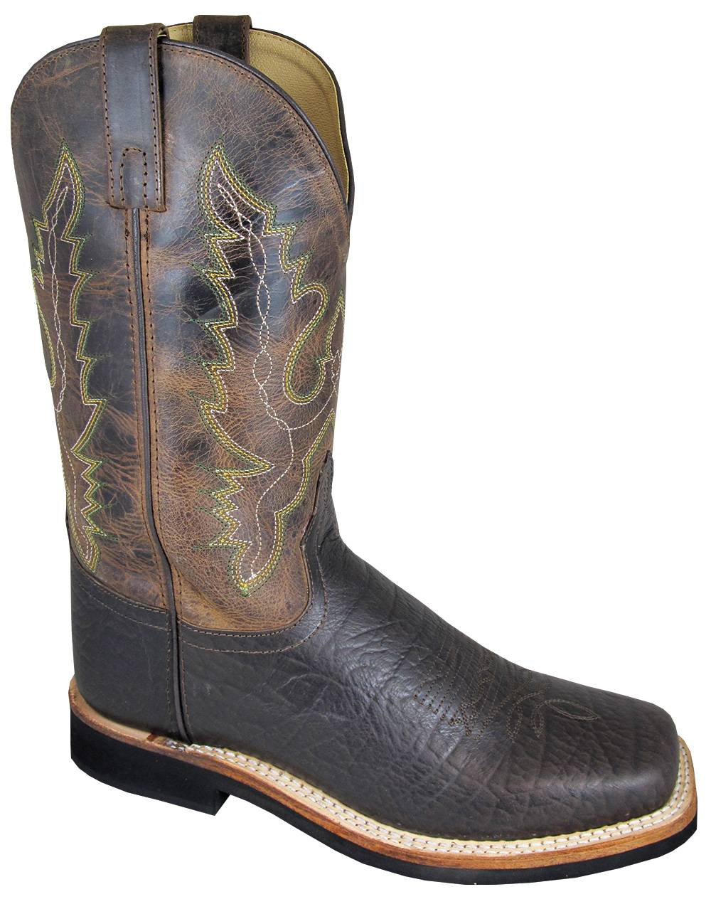 Smoky Mountain Roger Crackle Leather Square Toe Boots - Mens