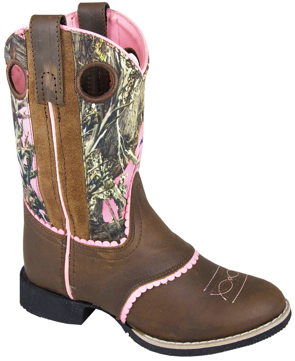 Smoky Mountain Ruby Belle Boots - Youth, Brown/Pink Camo
