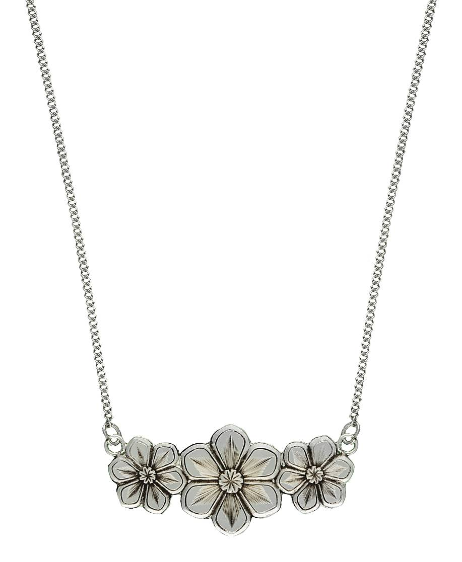 Montana Silversmiths Antiqued Spray of Daisies Necklace