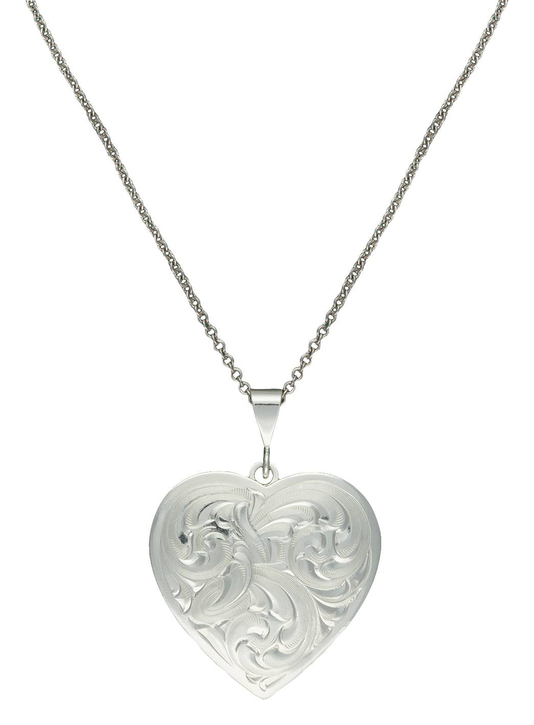 Montana Silversmiths Classic Heart Silver-Tone Concho Necklace
