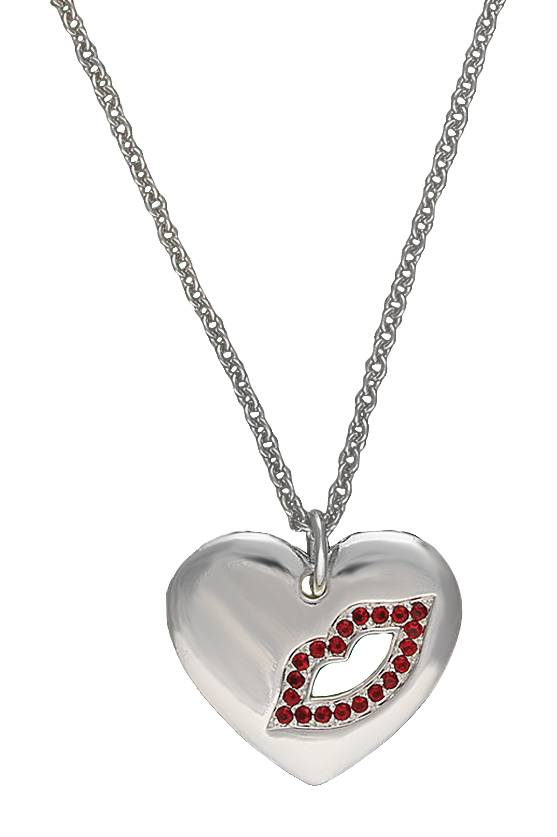 Montana Silversmiths Cowgirl Heart Sealed with a Kiss Charm Necklace