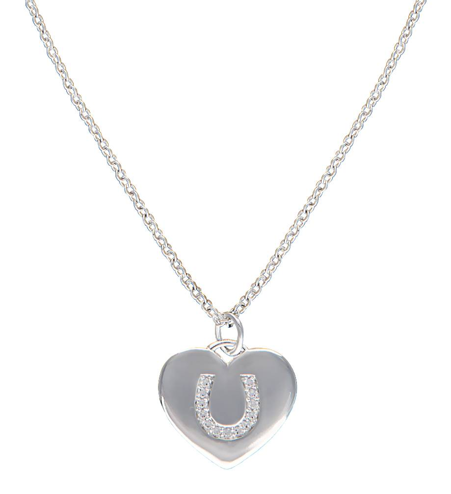 Montana Silversmiths Cowgirl Heart with Horseshoe Charm Necklace