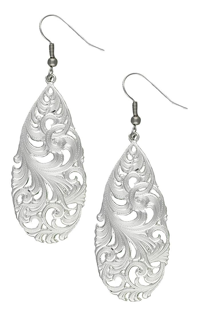 Montana Silversmiths Downy Meadow Teardrop Earrings