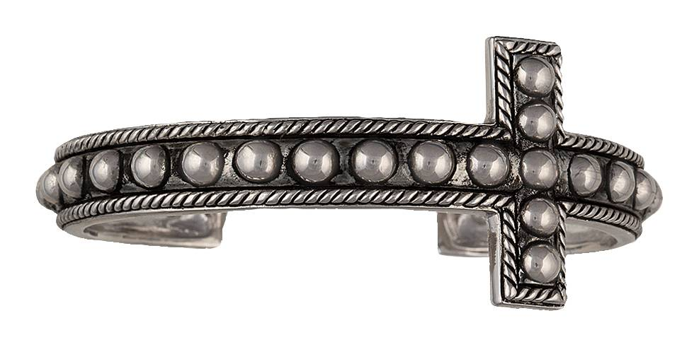 Montana Silversmiths Edge of the West Studded Cross Cuff Bracelet