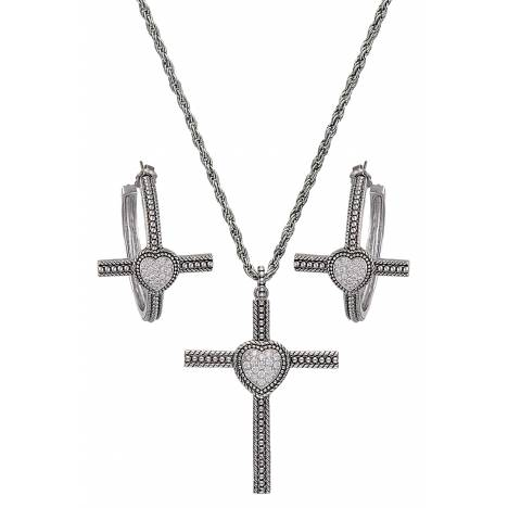 Montana Silversmiths Faith's Heart Cross Jewelry Set