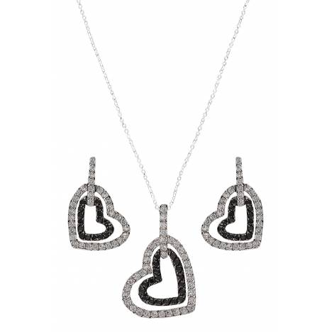 Montana Silversmiths Hearts Deep Reflection Jewelry Set