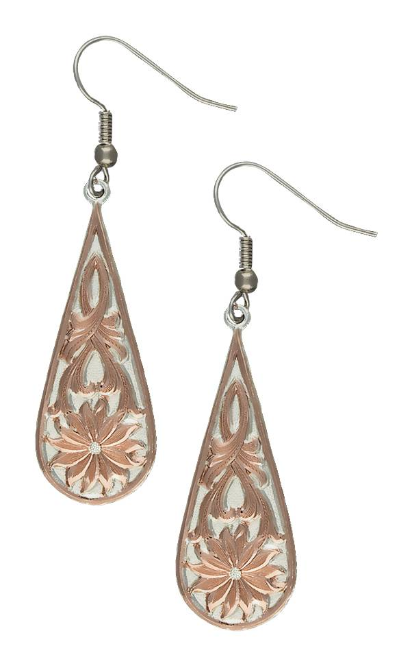 Montana Silversmiths Rose Gold Bitterroot Drops Earrings