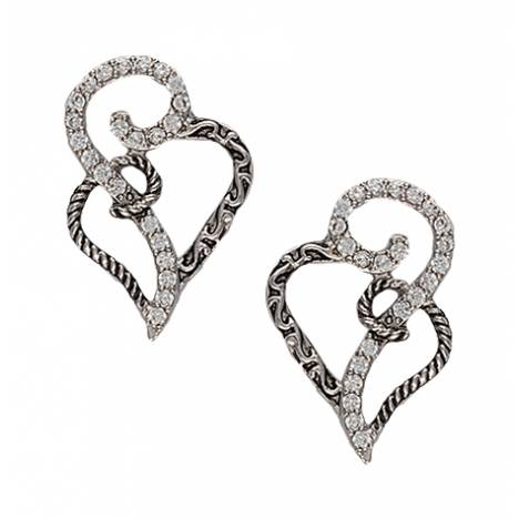 Montana Silversmiths Woven Hearts Post Earrings