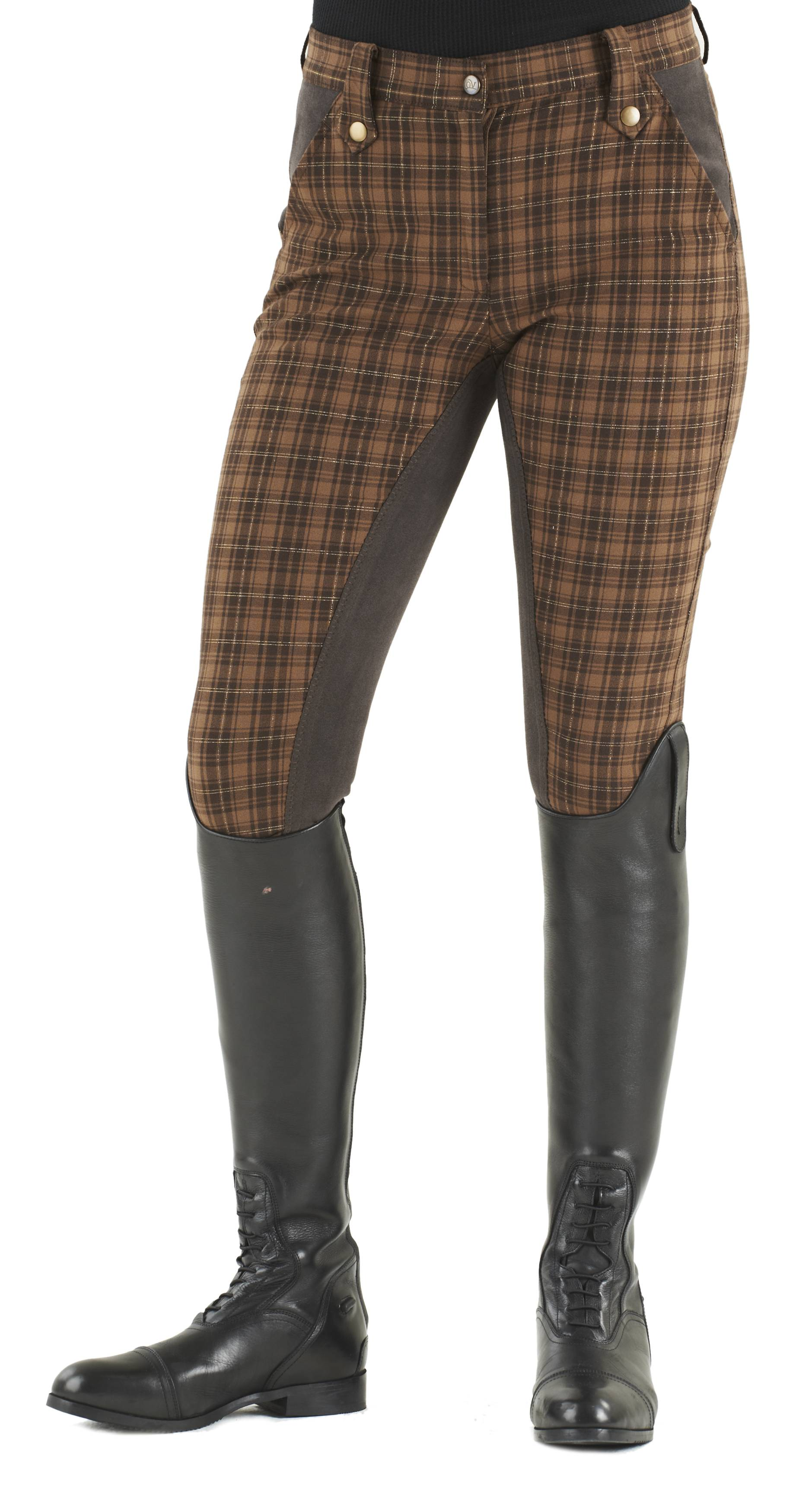 Ovation Sparkle Plaid Breeches - Ladies, Full Seat