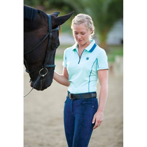 Romfh Zip Polo - Ladies, Short Sleeve