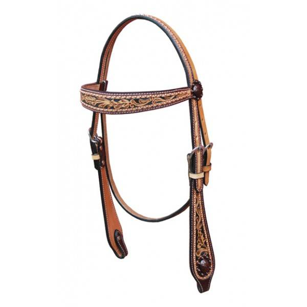 Turn-Two Prairie Rose Browband Headstall