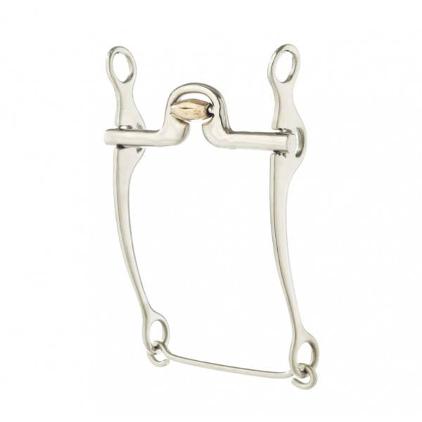 Turn-Two Stainless Steel High C-Port Stock Horse Bit
