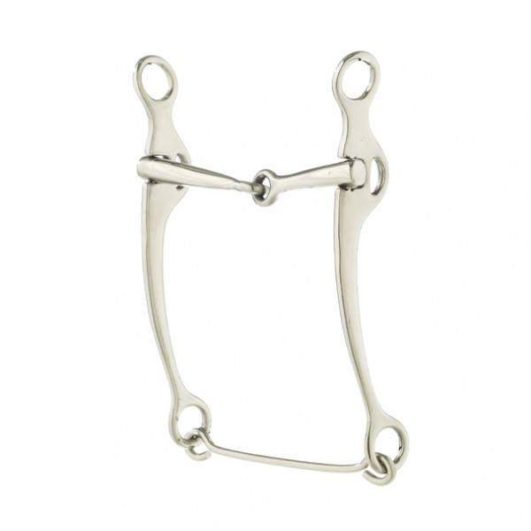 Turn-Two Stainless Steel Snaffle Stock Horse Bit