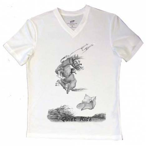Intrepid ''A Quiet Ride'' V-Neck Tee Shirt - Ladies