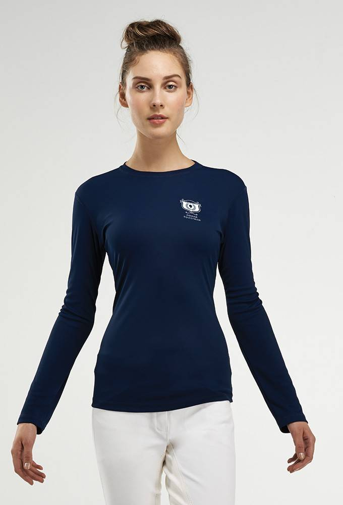 Outlet - Asmar AE Long Sleeve Tee - Ladies, X-Large, Navy