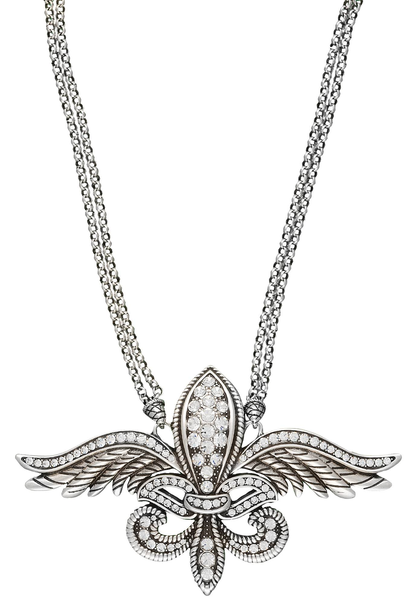 Rock 47 Fleur de Lis on Wings Necklace