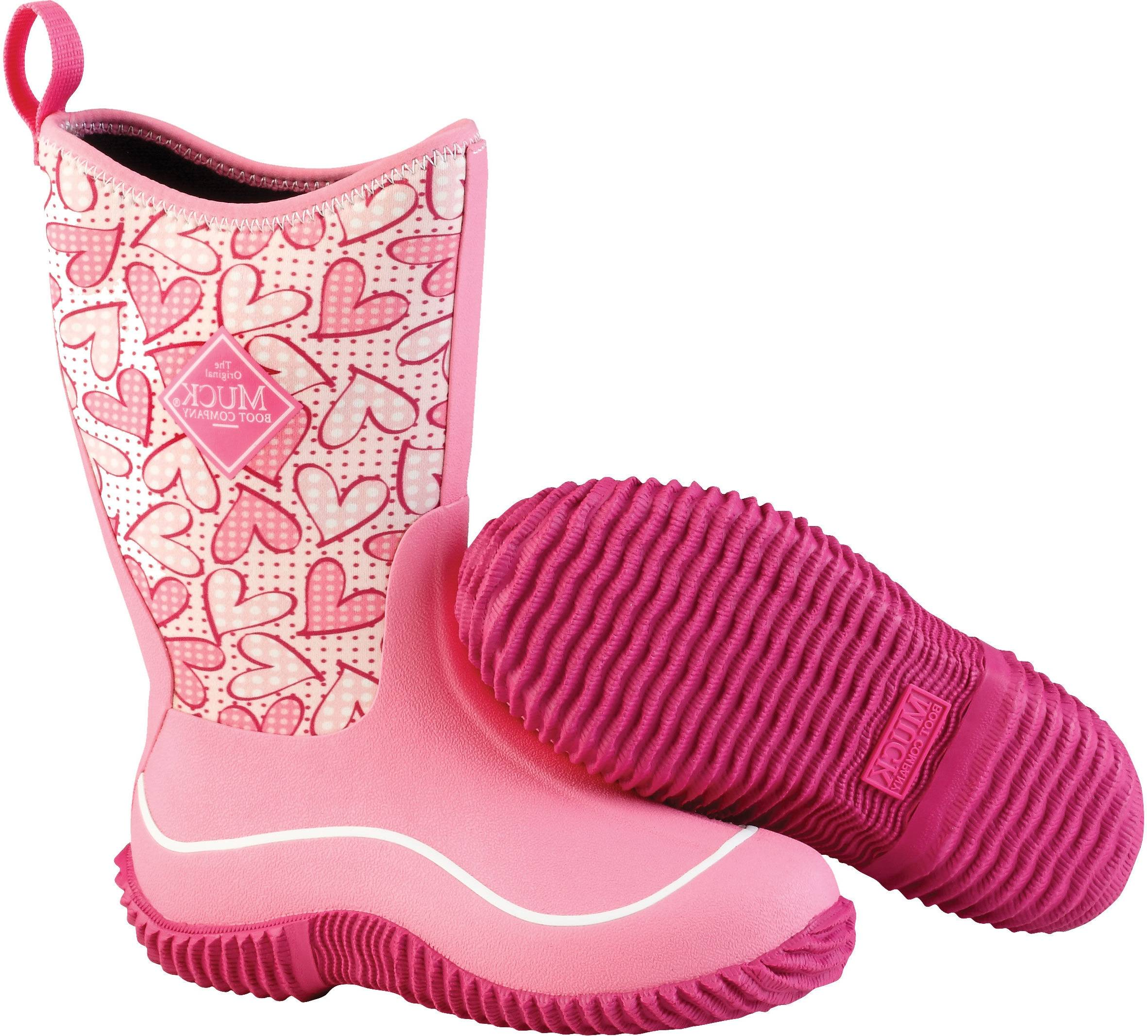 Muck Boots Hale - Kids - Pink Hearts