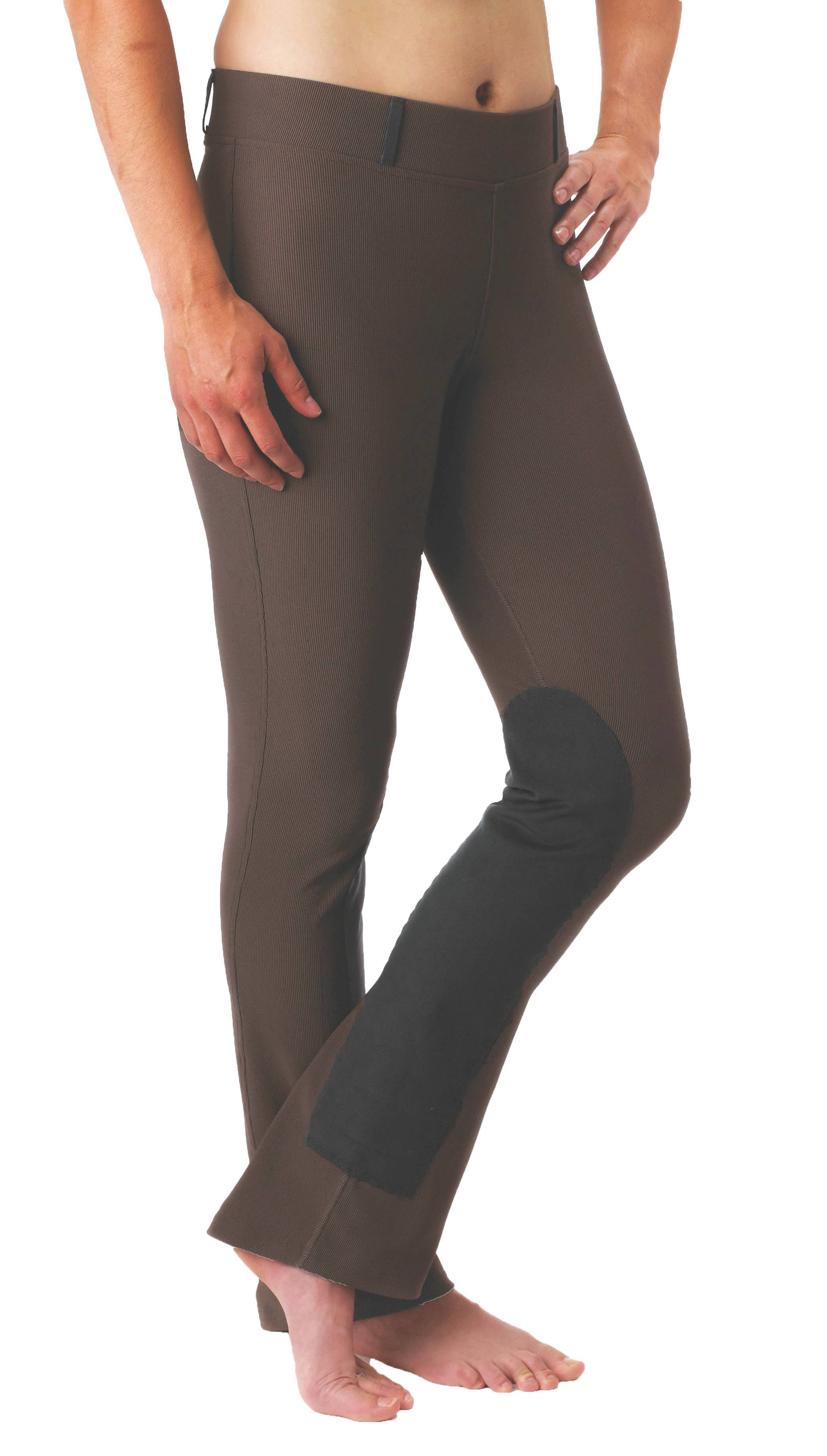 Kerrits Ladies Microcord Bootcut Tights - Knee Patch