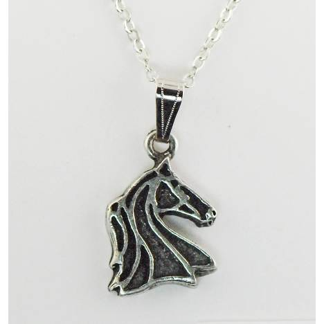 Finishing Touch Outline Horse Head Necklace