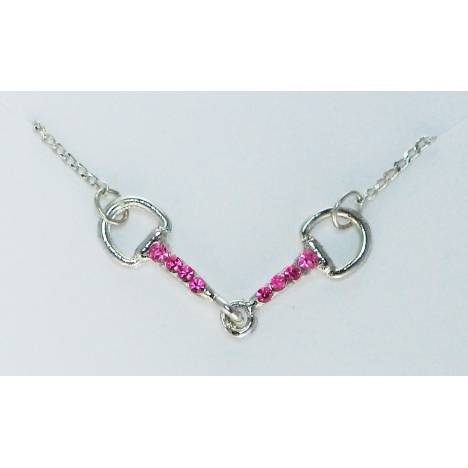 Finishing Touch Snaffle Bit Necklace With Stones