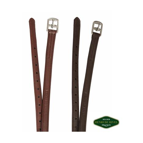 Henri de Rivel Triple Covered Stirrup Leathers - Leadline