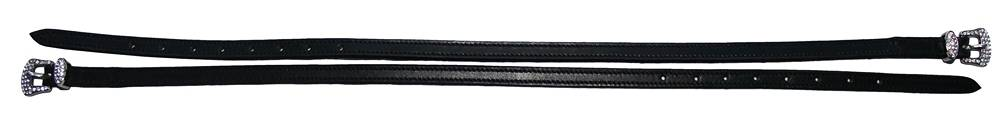 Henri de Rivel Diamond Buckle Leather Spur Strap