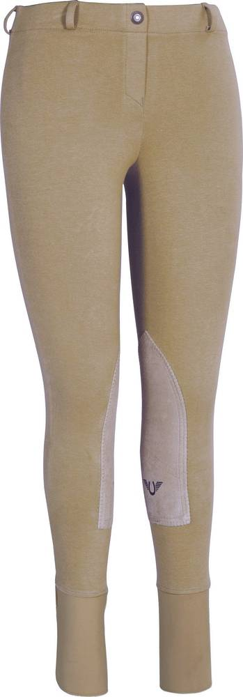 Tuffrider Low Rise Starter Breeches w/CS2 - Ladies, Knee Patch