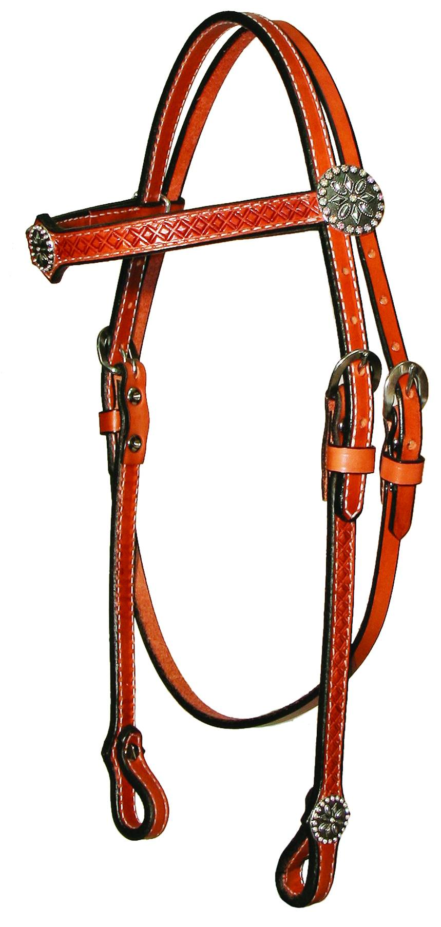 Circle Y Antique Ab Crystal Browband Headstall