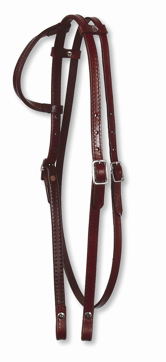 Circle Y Plain One Ear Headstall with Throatlatch