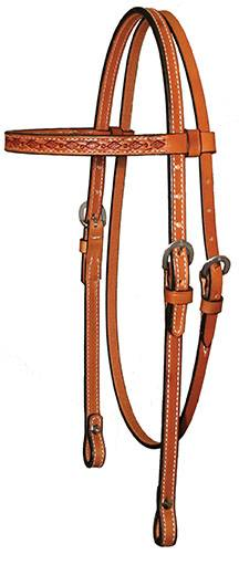 Circle Y Border Tooling Browband Headstall