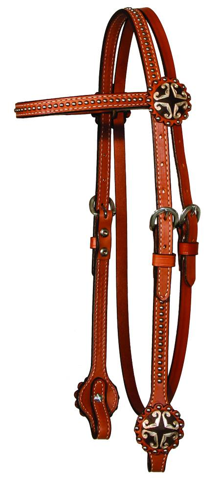 Circle Y Hearts & Spots Browband Headstall