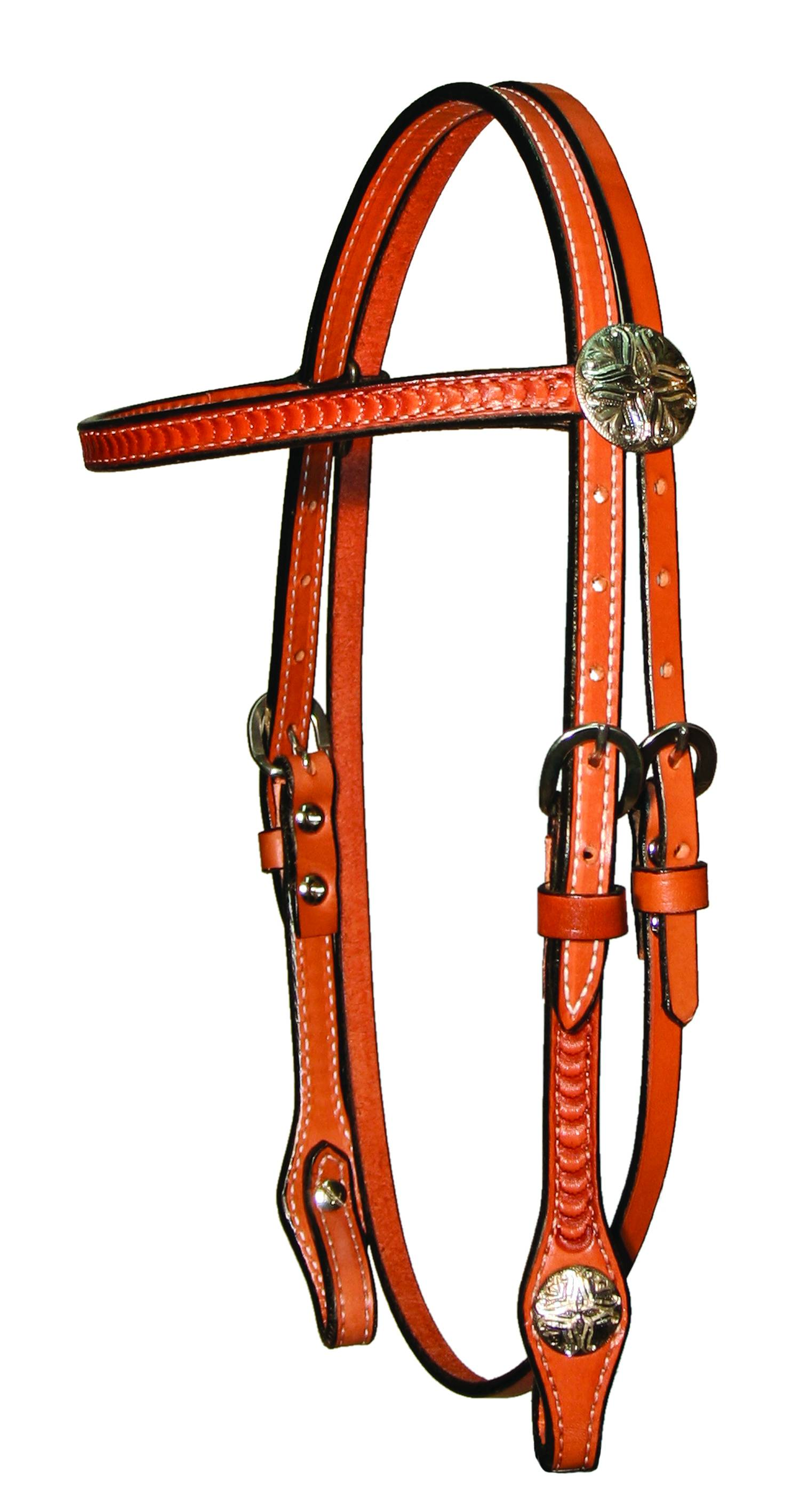 Circle Y Antique Tulip Gag Headstall