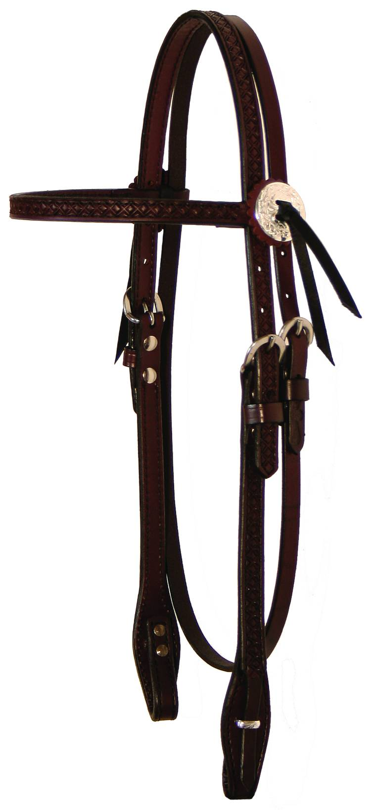 Circle Y Goodnight Diamond Tooled Browband Headstall