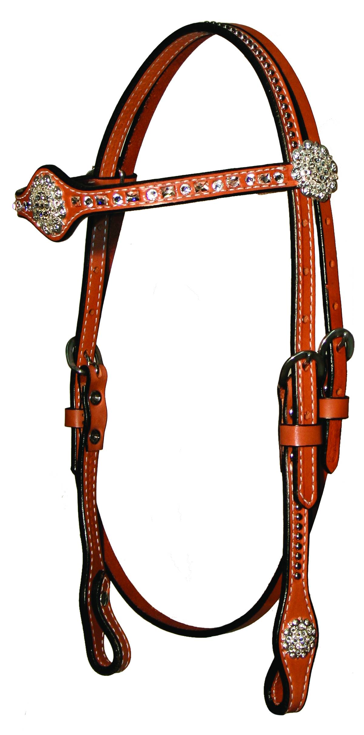Circle Y Crystals/Spot Browband Headstall