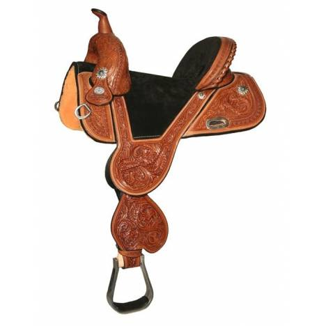 Circle Y Fischer Treeless Daisy Barrel Saddle