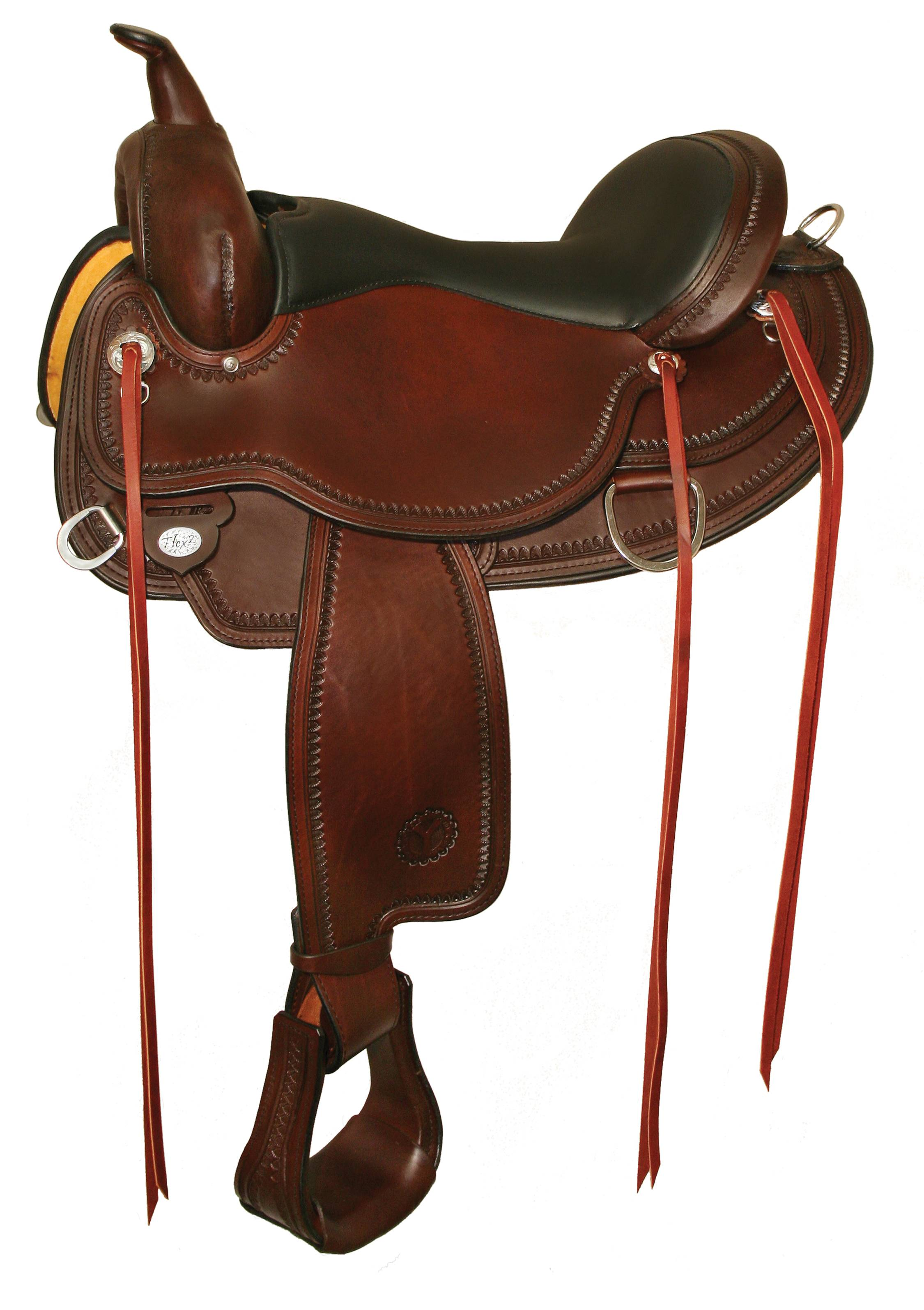 Circle Y Omaha Flex-Lite Shell Border Saddle
