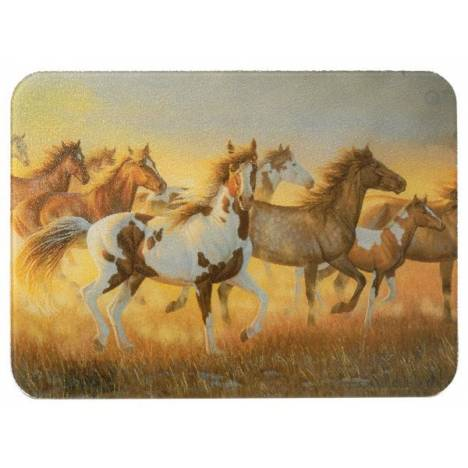 Gift Corral Running Horses Cutting Board