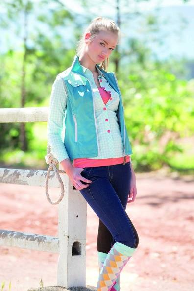Horseware Summer Denim Breeches - Ladies, Denim Grey