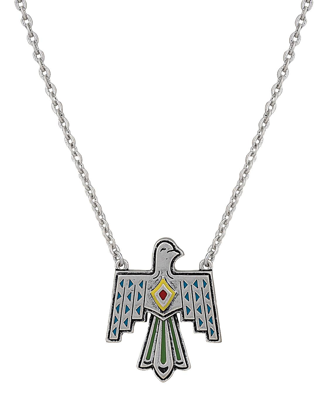 Rock 47 Tribal Flair Painted Thunderbird Necklace