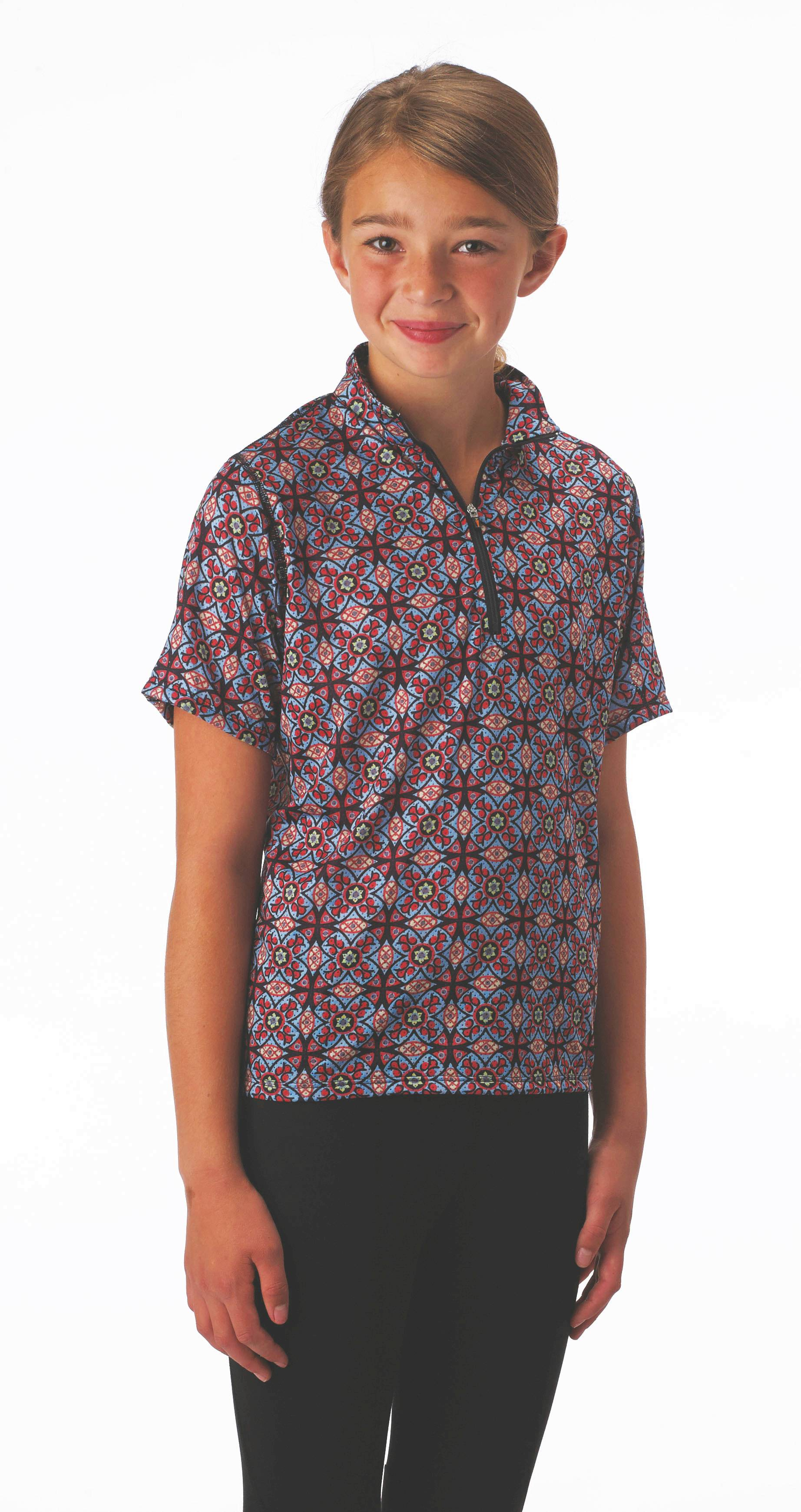 Kerrits Ice Fil Mesh Short Sleeve - Kids, Prints