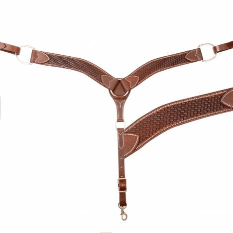 "Cashel 2"" Breast Collar - Chestnut Basket"