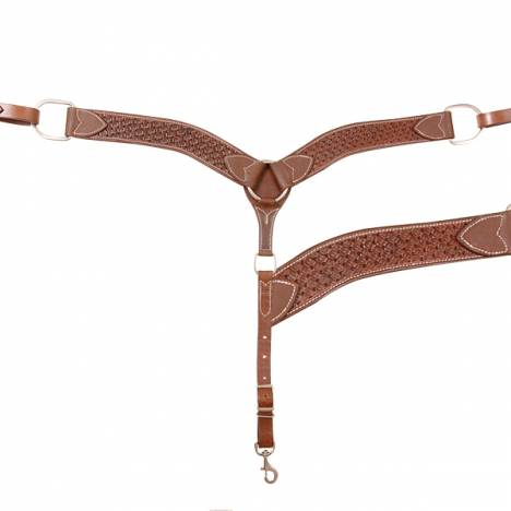 "Cashel 2"" Breast Collar - Chocolate Weave"