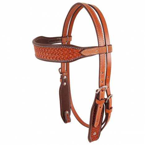 Cashel Browband Headstall - Chestnut Basketstamp