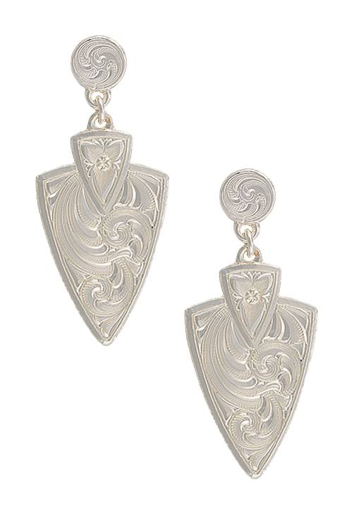Montana Silversmiths A Keen Pursuit Arrowhead Earrings